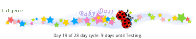Lilypie Trying to Conceive 15 to 80 day cycle tickers